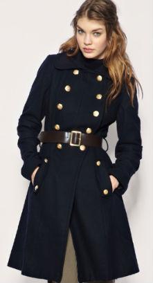 Ladies Military Style Winter Coats | Down Coat